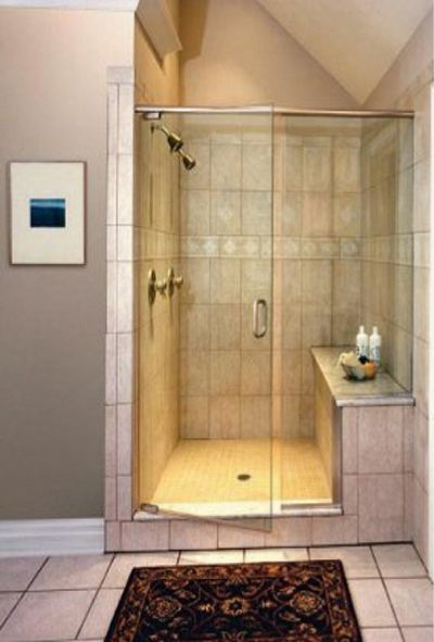 Walk In Shower Ideas For Bathrooms With Glass Shower Doors With Stainless  Steel Pulls Faced Captivating Moroccan Carpet And Ceramics Tile