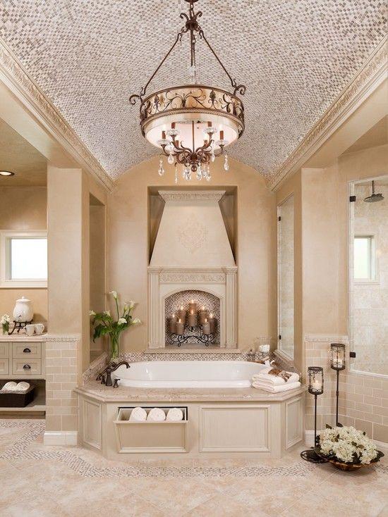 Interesting Fake Fireplace Terrific Traditional Bathroom Fake