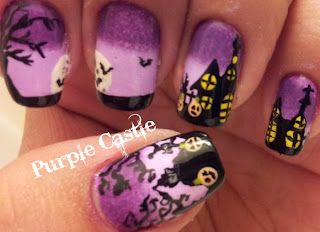 Haunted House Manicure Crazy Nails Nails Cute Nails