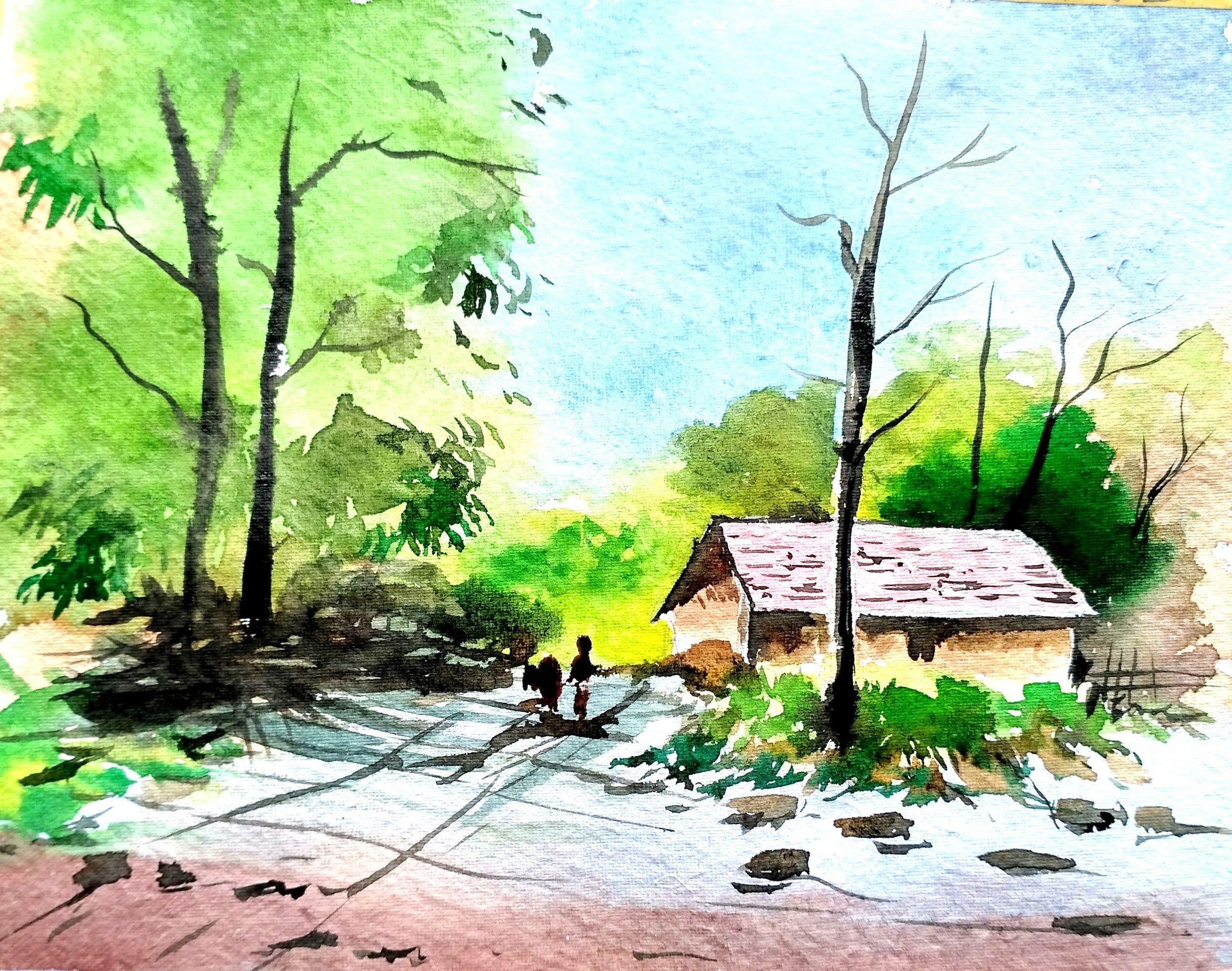 Landscape Painting Watercolor Painting Paint With David Youtube Watercolor Landscape Easy Landscape Paintings Watercolor Art Landscape