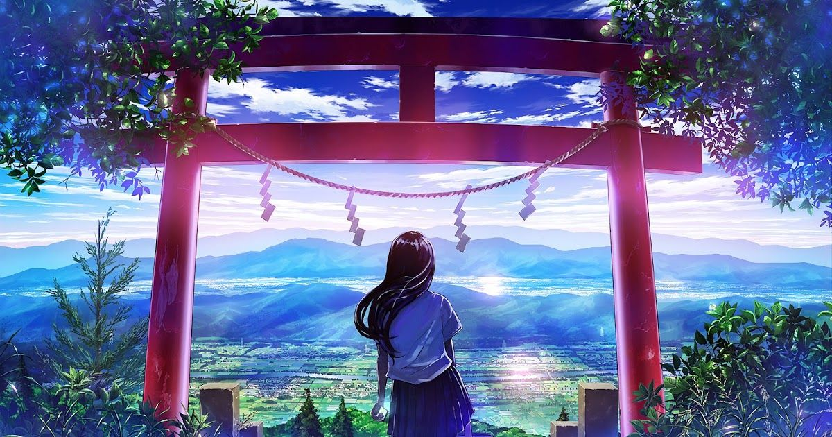 15 Wallpaper Anime Hd Landscape Anime Japanese Gate Shrine Girl Scenery 4k 3840x2160 Dow In 2020 Anime Scenery Wallpaper Anime Scenery Anime Backgrounds Wallpapers