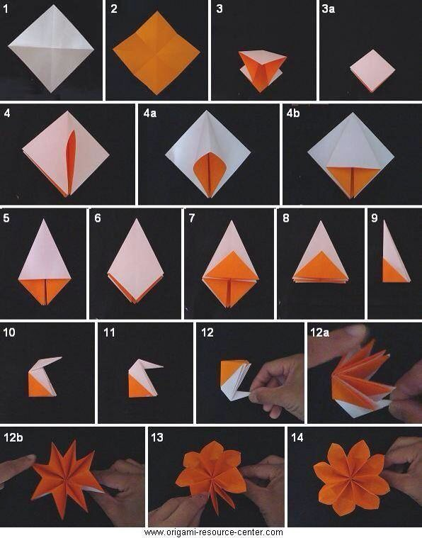 Origami Flower Crafts Pinterest Origami Origami Flowers And