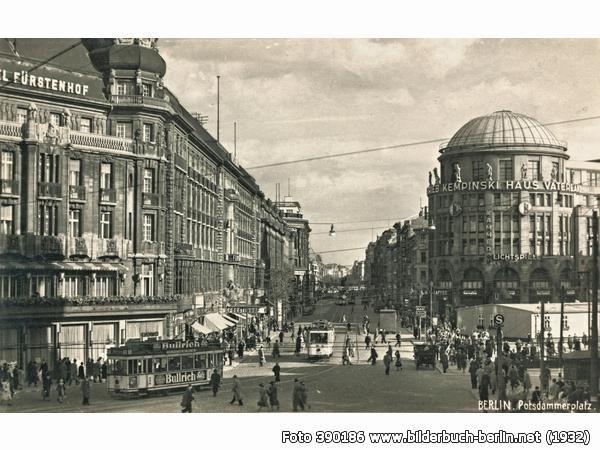 FürstenhofundKempinski, Potsdamer Platz, 1932