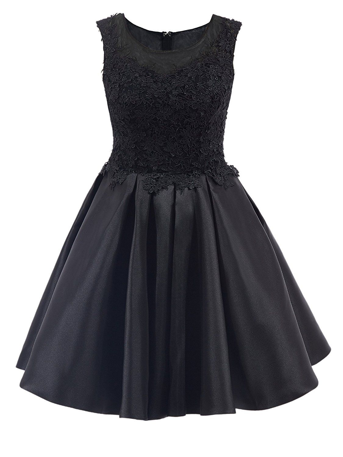 Tanpell womenus lace short applique homecoming party evening gown at