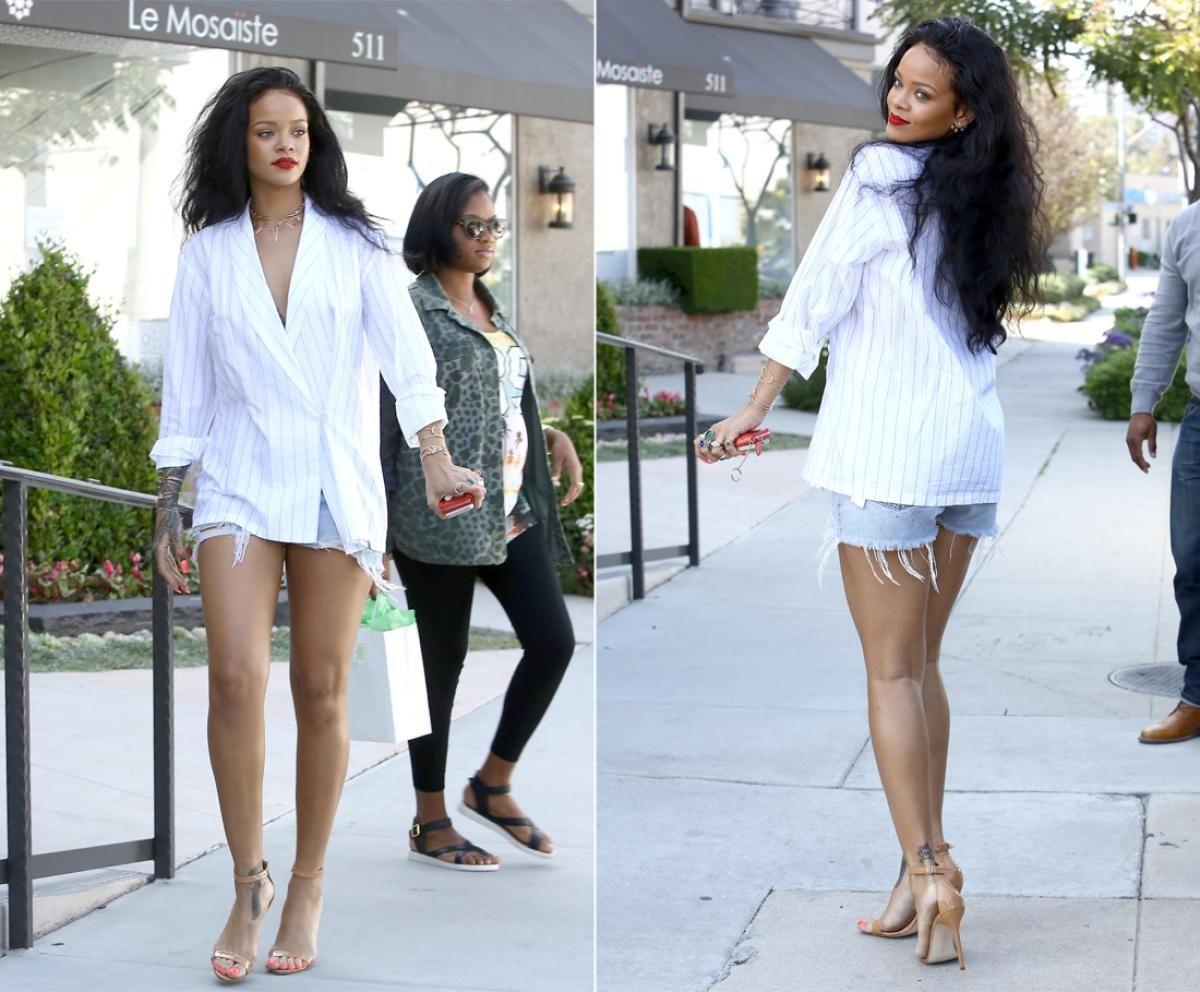 39df43ba086282 Rihanna - Photos - Celebrities wearing short shorts