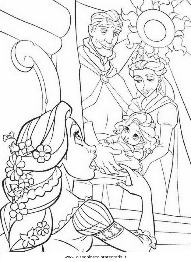 Guarda tutti i disegni da colorare di Rapunzel www