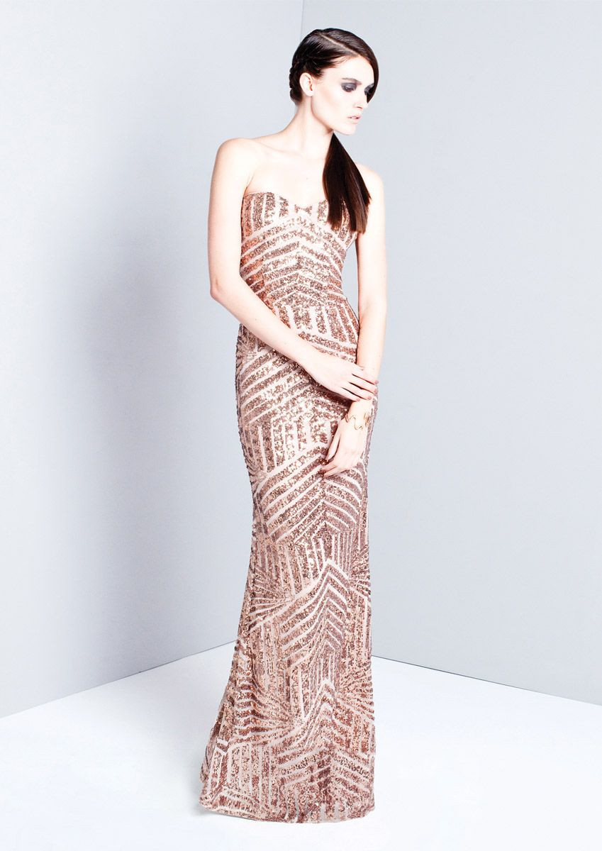 Celine long gold sequin dress bridesmaid from abroad pinterest