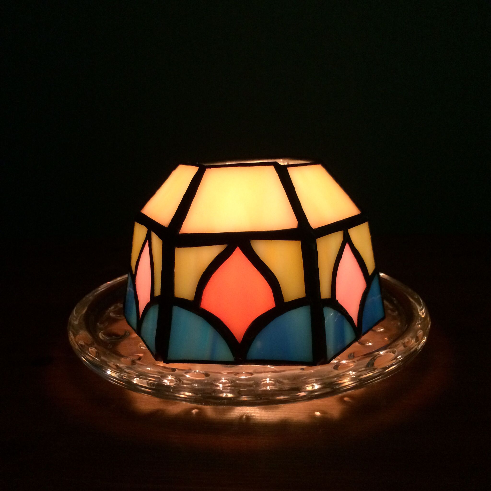 Stainedglass candle holder