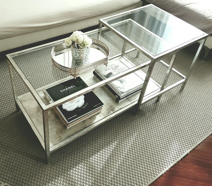 Ikea Vittsjo Nesting Table Hack Aged Silver Leaf And