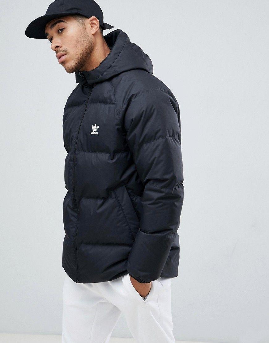 Adidas Originals Reversible Hooded Puffer Jacket In Black Dh5003 Black Adidasoriginals Cloth Latest Fashion Clothes Puffer Jackets Adidas Originals [ 1110 x 870 Pixel ]