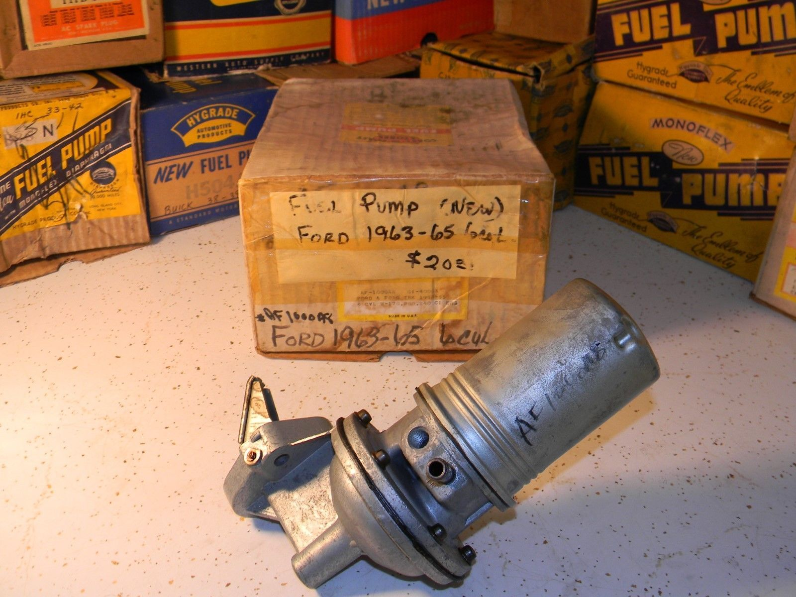 Mechanical fuel pump fits 1963 ford 6 cylinder car and truck ebay