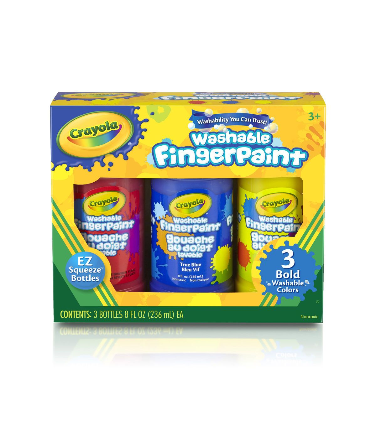 Crayola Crayola Washable Finger Paint 8oz 3/ Packg - Primary Colors ...