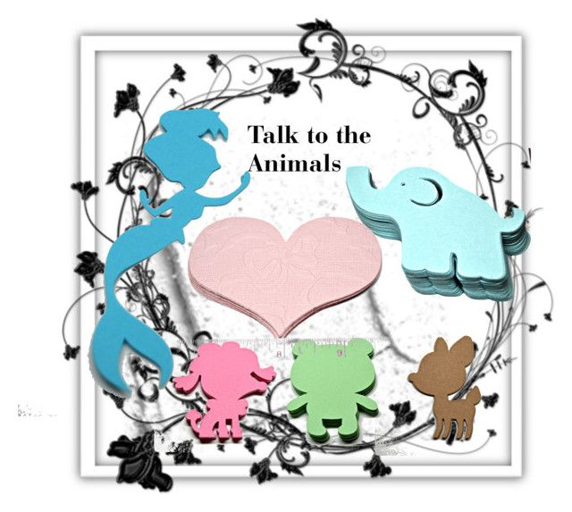"""Talk to the Animals"" by mroz-naps ❤ liked on Polyvore featuring art, supplies, https, craftSupplies and etsyfru"