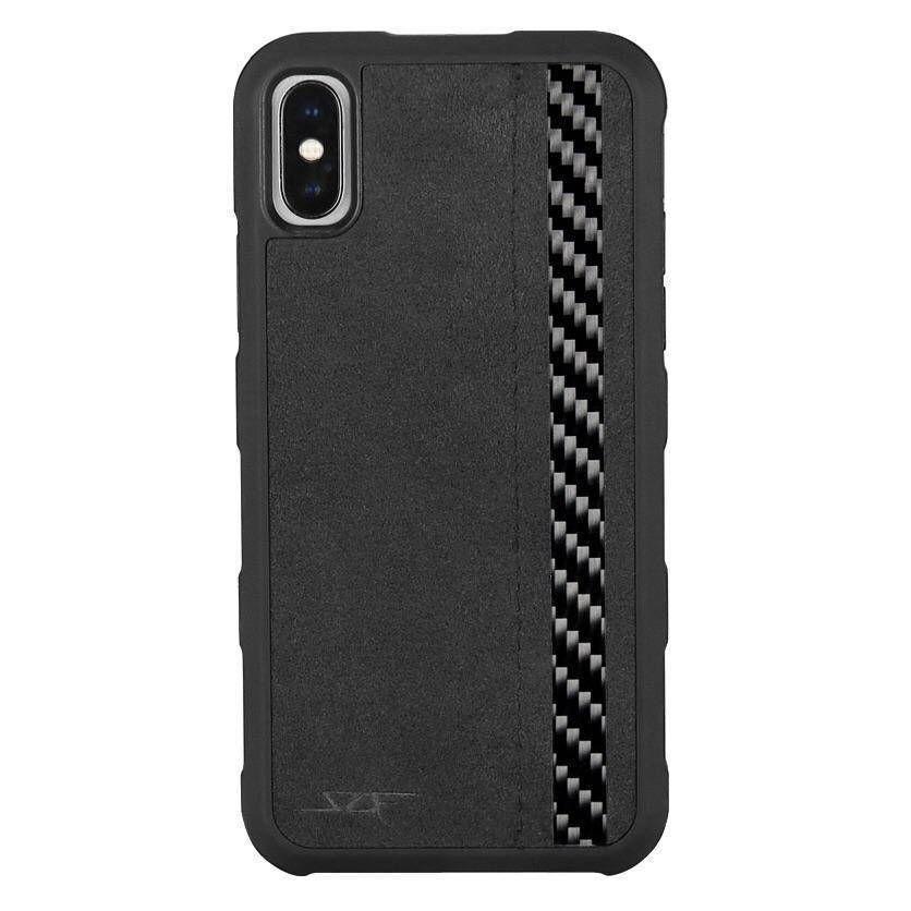Iphone X Xs Alcantara Real Carbon Fiber Case Armor Series Simply Carbon Fiber Case Carbon Fiber Iphone