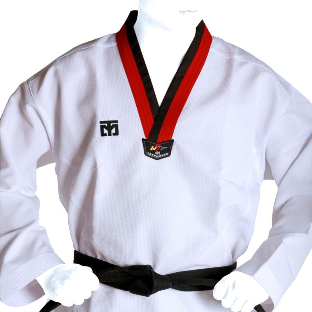 Taekwondo Wrap Suits Uniforms White Mooto BS4 TKD Open Dobok Martial Art MMA Kor