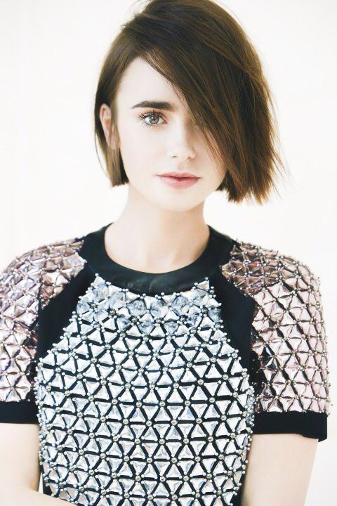 Lily Collins for Marie Claire UK.