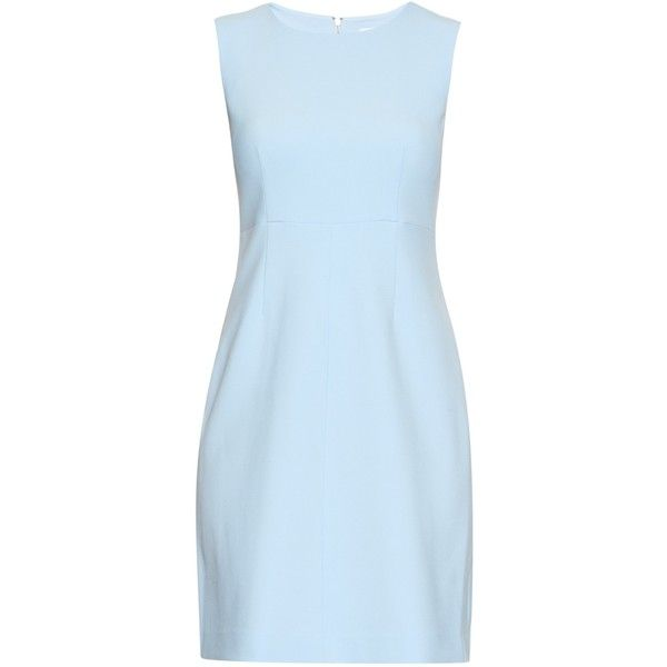 Diane Von Furstenberg Carrie dress ($368) ❤ liked on Polyvore featuring dresses, light blue, blue dress, light blue dress, diane von furstenberg dresses and diane von furstenberg