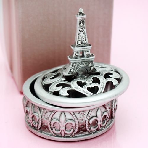 Eiffel Tower Design Curio Box Favors Thanks for popping by
