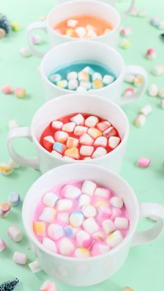 diy gradient marshmallows and colorful hot cocoa easy way to make your cocoa colorful