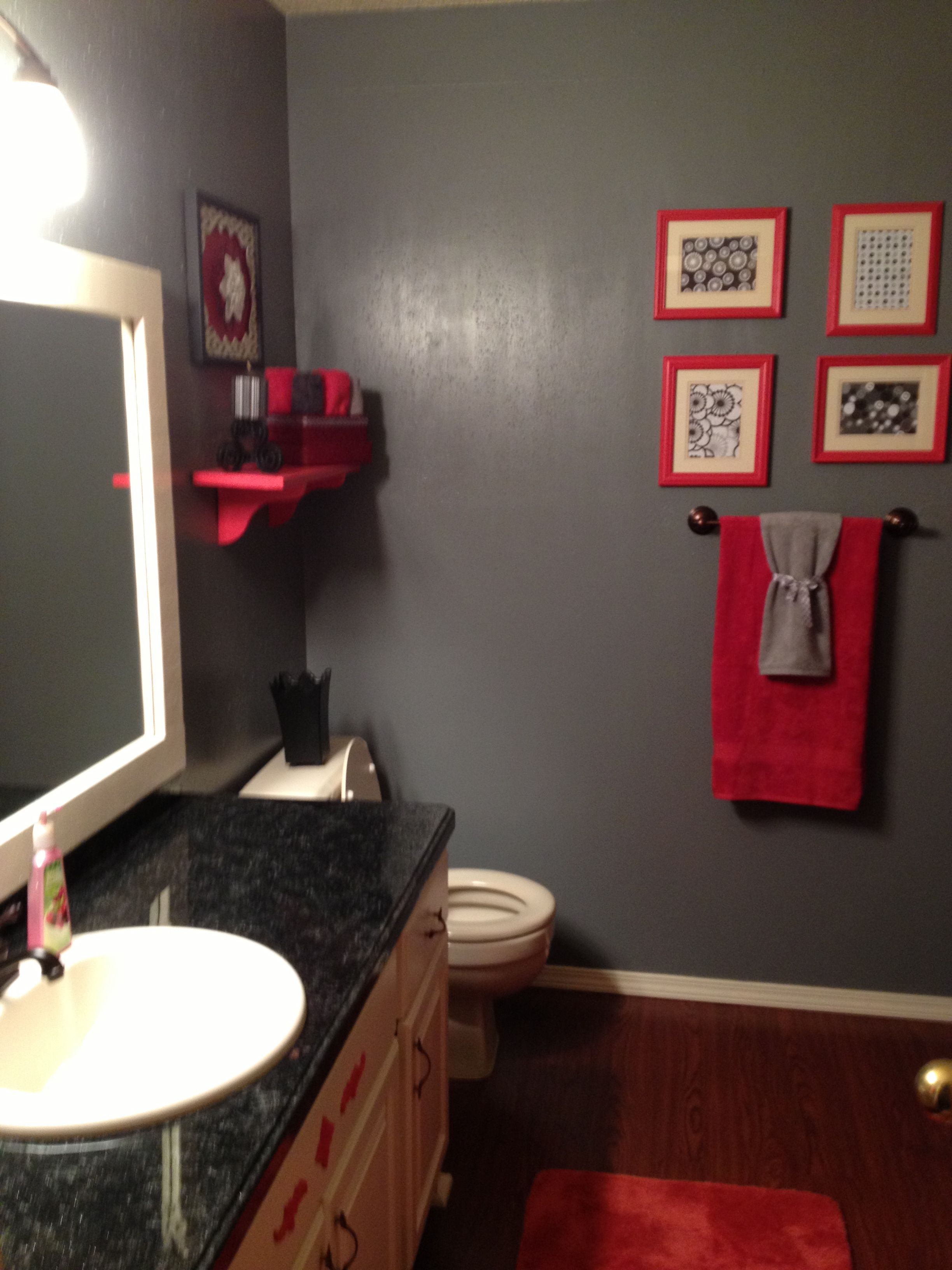 My bathroom makeover I laid new floor painted trim walls and