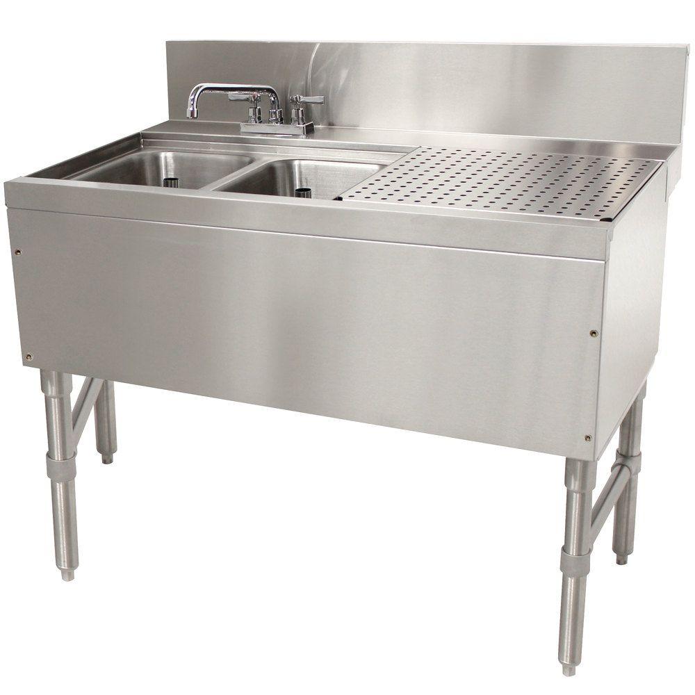 Advance Tabco PRB-24-32L 2 Compartment Prestige Series Underbar Sink ...