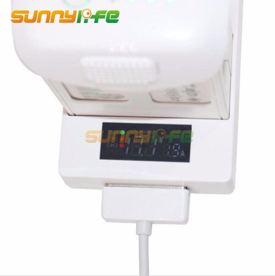 Battery Parallel Charging Hub Board 3in1 With Digital Dji Phantom 4 Display For All Series