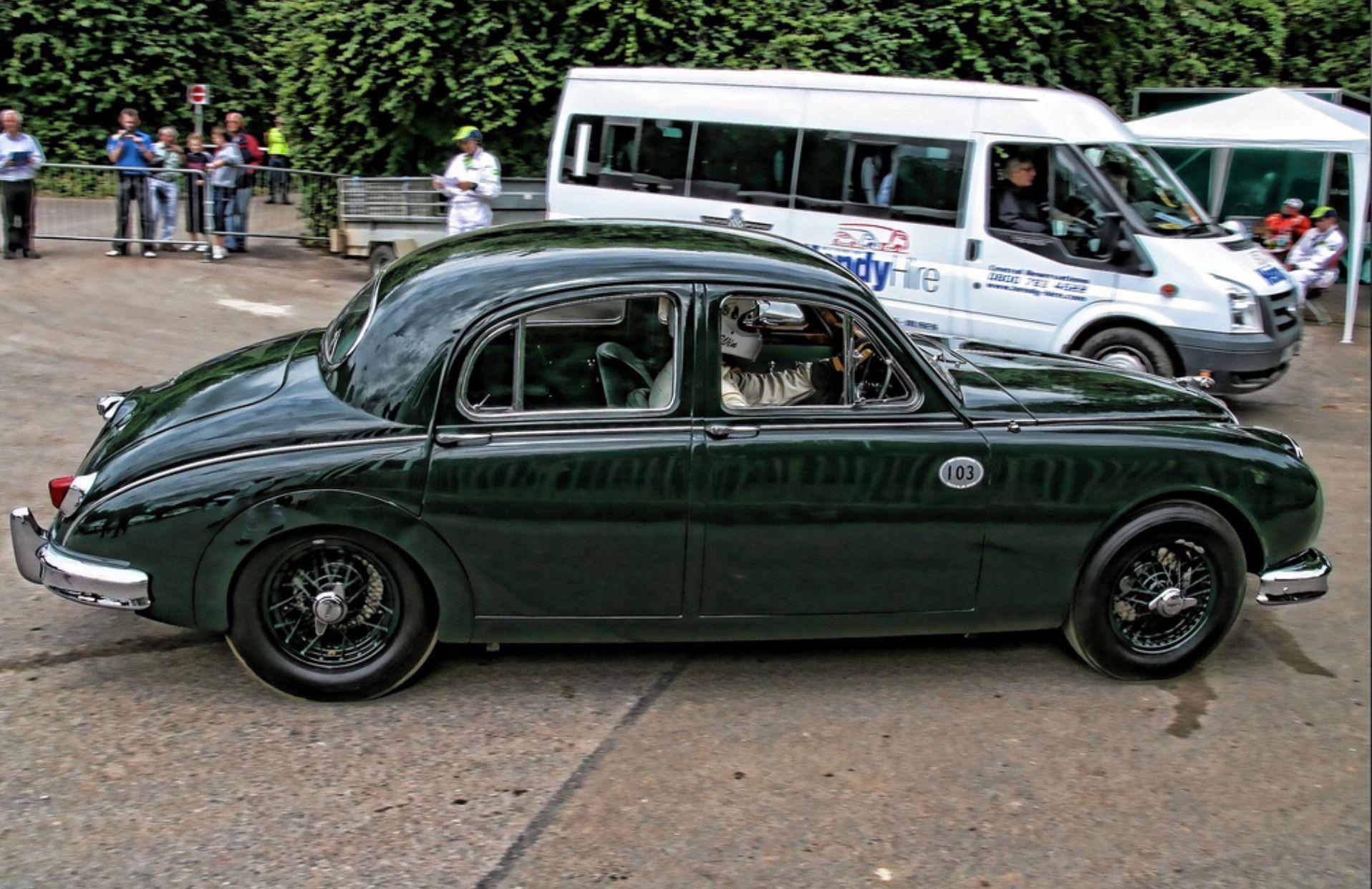1958 mike hawthorn replica jaguar 3.4l mk1 saloon   jaguar   jaguar