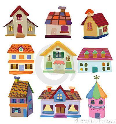 Cartoon House Icon Cartoon House Home Icon House Illustration