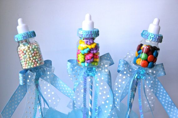 40 EasytoMake Baby Shower Centerpieces Baby Shower Things Inspiration Decorated Baby Bottles