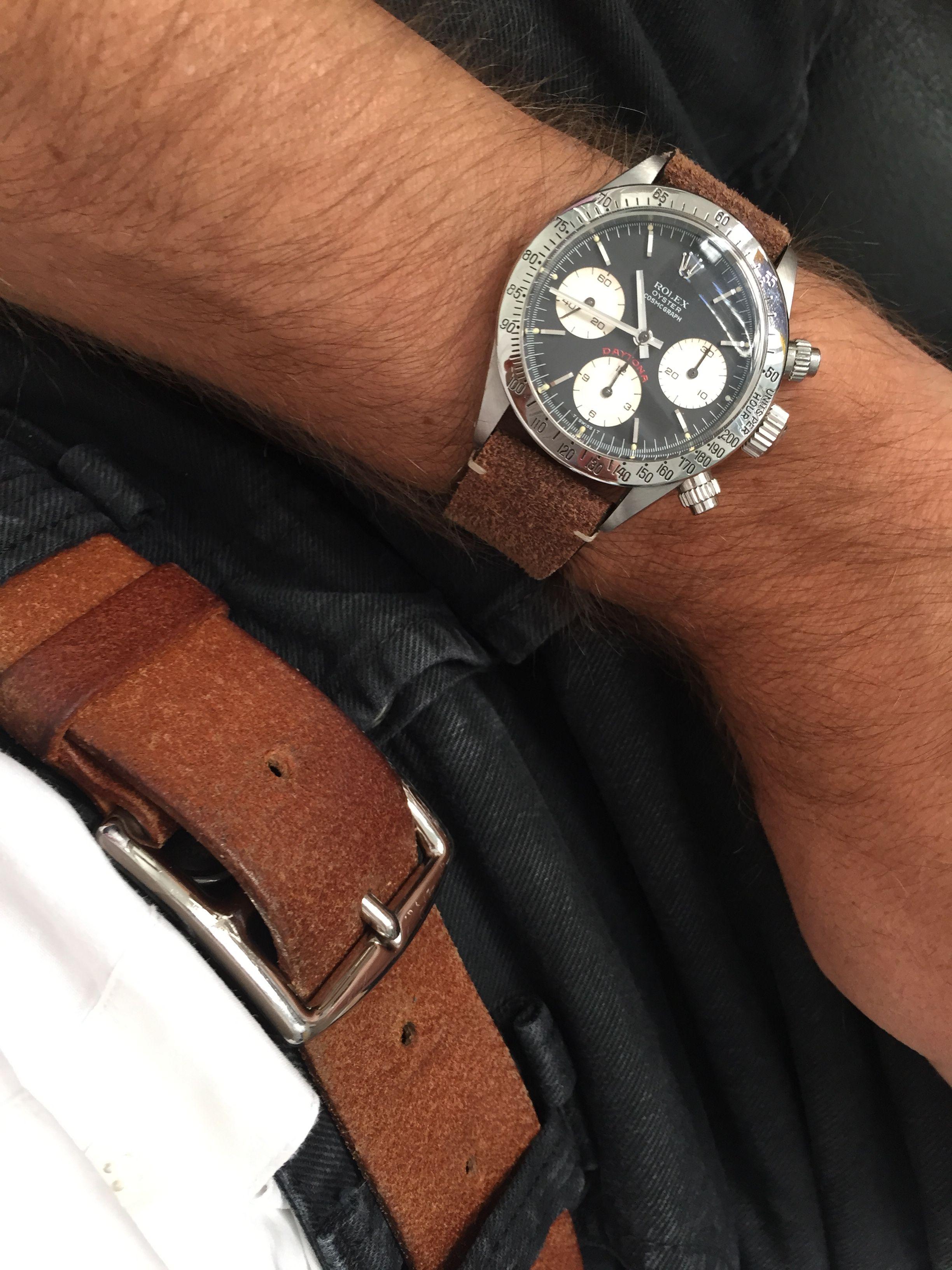 san francisco 73a3d 705a5 Hermes Belt & Rolex Daytona 6265 vintage Leather strap ...