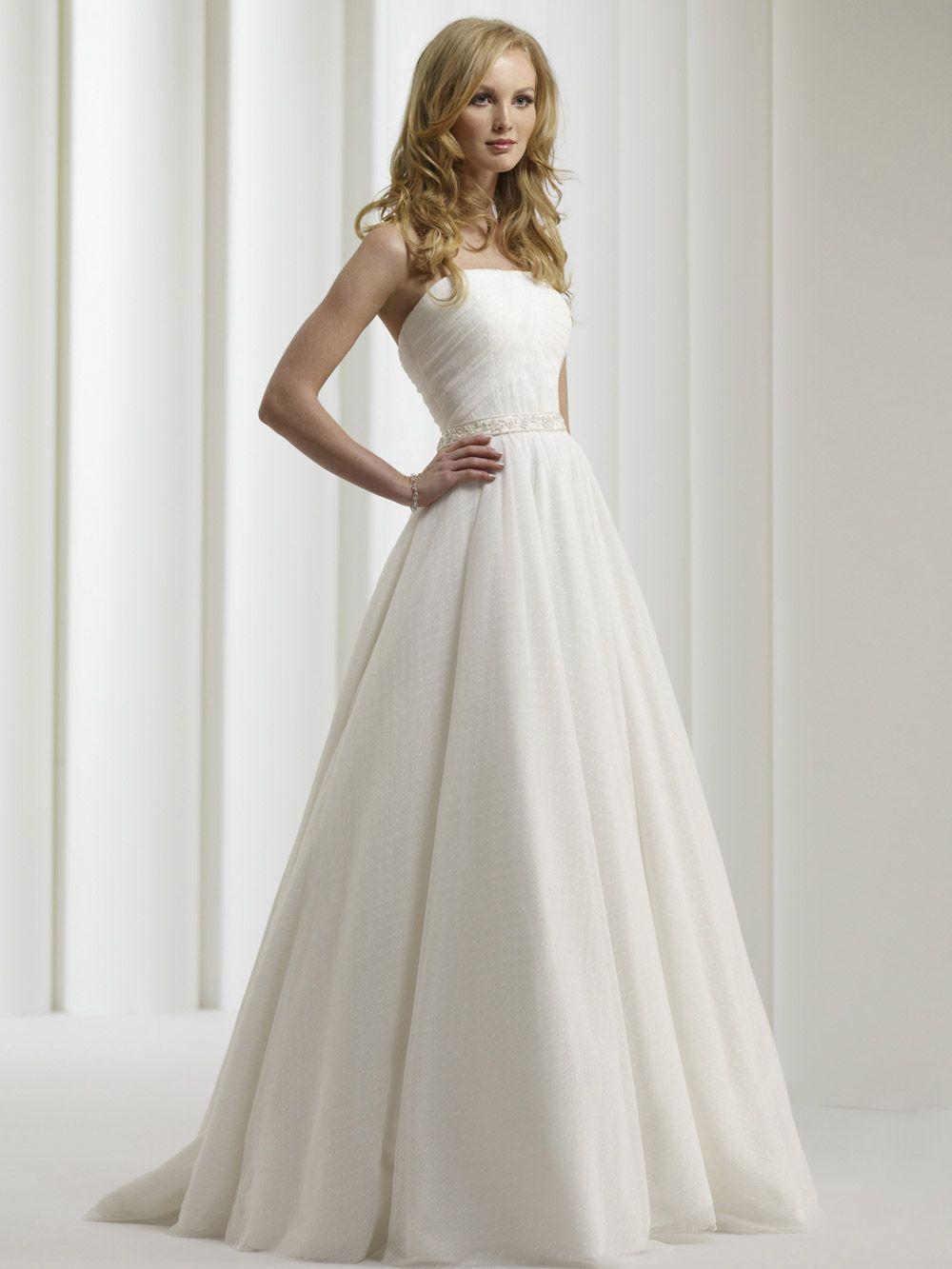 Michelle gown by robert bullock bride swiss dot net strapless ball