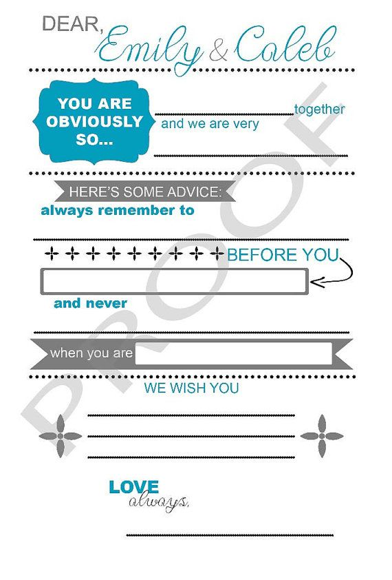 Not your boring wedding guestbook! Fill-in-the-Blank Wedding - wedding plans