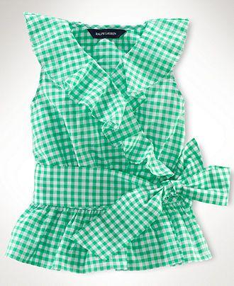 e6c4811cc Ralph Lauren Kids Shirt, Little Girls Sleeveless Ruffle Top - Kids Toddler  Girls (2T-5T) - Macys