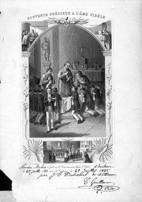 Collection Prescott-Russell en numérique: Première Communion d'Omer Maheu. 1885.