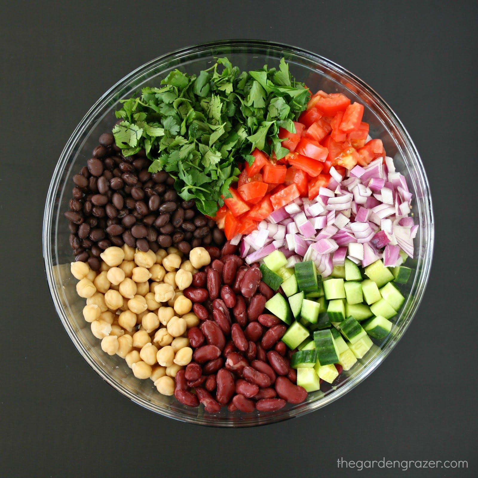 Mediterranean Three Bean Salad The Garden Grazer Recipe Bean Salad Recipes Bean Salad Three Bean Salad