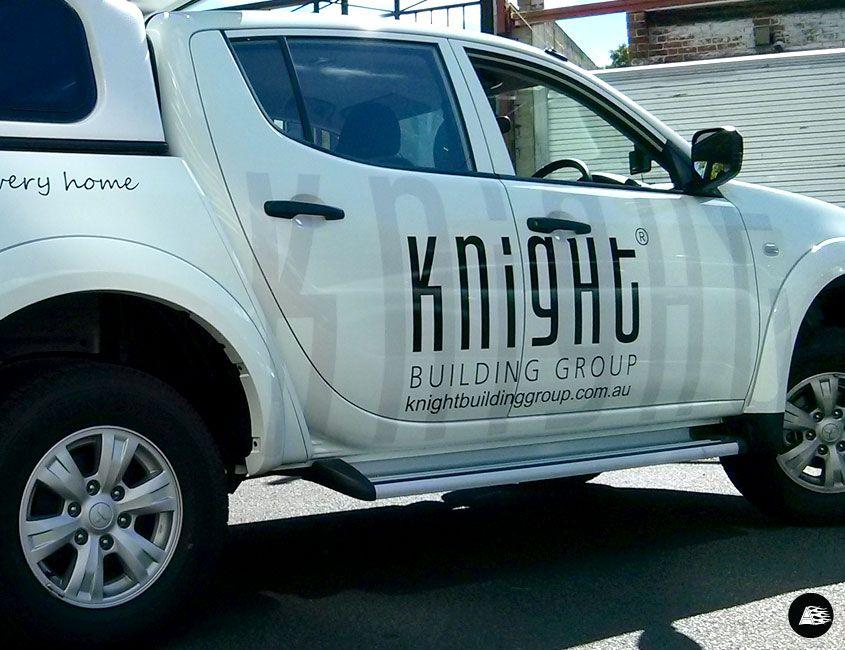 White Triton Ute, Vehicle Decals, Vehicle Wrap Melbourne