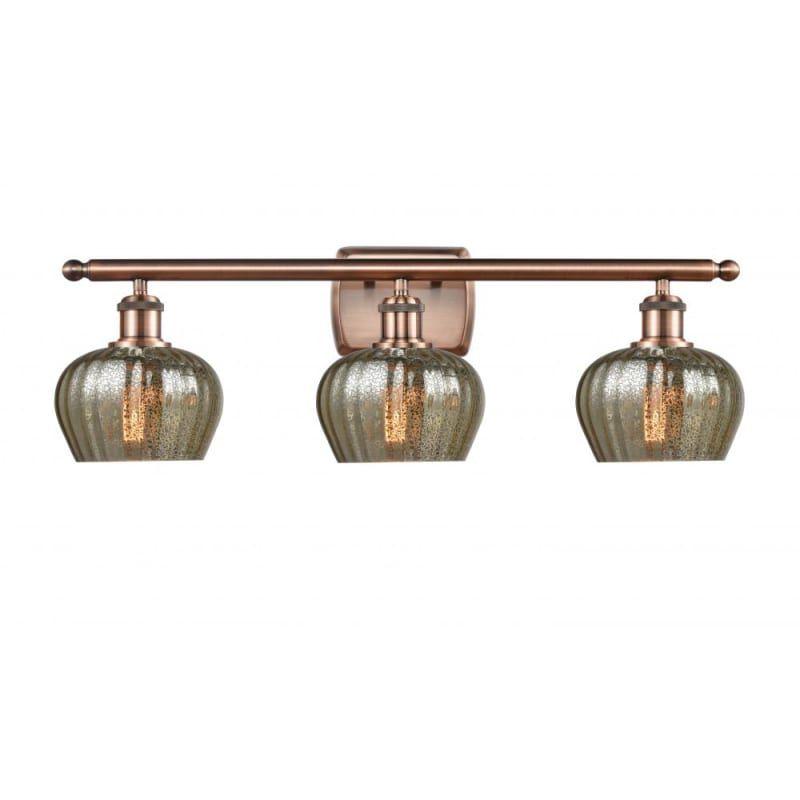 Photo of Innovations Lighting 516-3W Fenton Fenton 3 Light 26″ Wide Vanity Light Antique Copper / Mercury Indoor Lighting Bathroom Fixtures Vanity Light