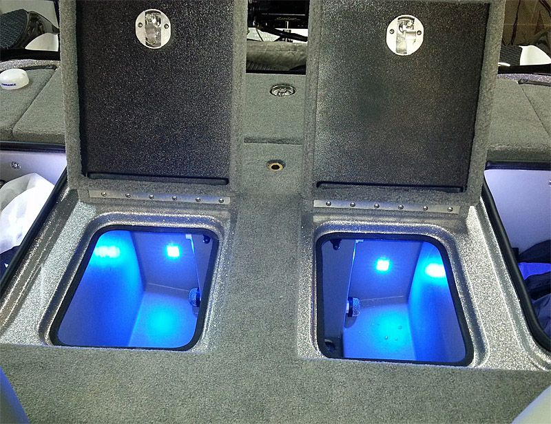 Quad Beam Livewell Cooler Led Light Pair Submersible