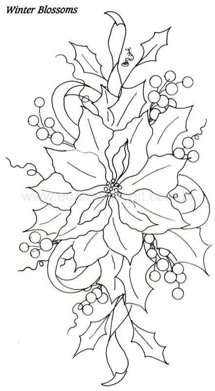 Poinsettia: | Coisas para usar | Pinterest | Artesanal, Consejos y ...