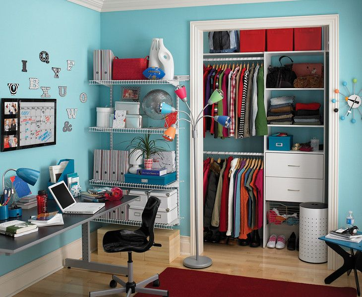 Maximize storage space with a closet organizing system, wire shelves ...