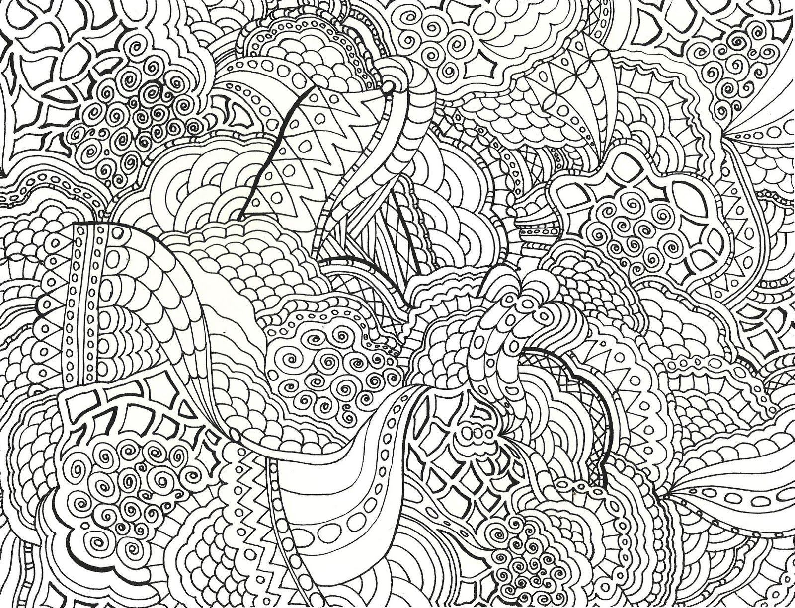Peaceful Abstract Coloring Pages Detailed Coloring Pages