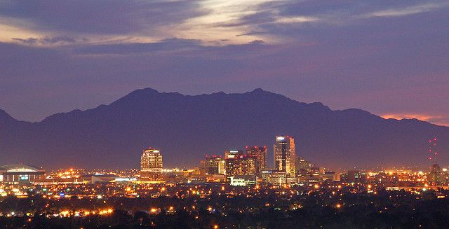 Downtown Phoenix At Dusk Arizona Travel Places To Travel Places To Go