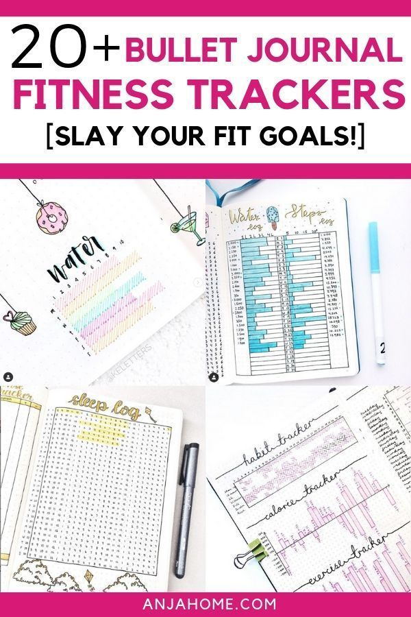 Get your healthy body back with these fitness bullet journal ideas. Here you can find the best bulle...