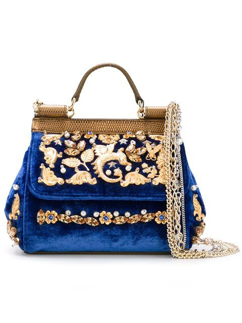 DOLCE   GABBANA Mini  Sicily  Tote.  dolcegabbana  bags  stone  velvet  tote   leather  shoulder bags  hand bags   1a82a51bd13b6