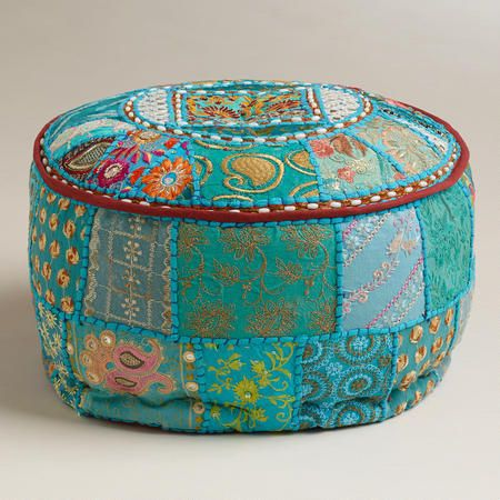 Small Turquoise Pouf World Market Pillows Pinterest Delectable Pouf Ottoman World Market