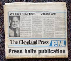 The Cleveland Press Comes To Its End I Used To Deliver This Paper When I Was Little Cleveland Ohio History Cleveland Ohio