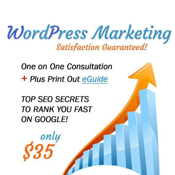 WordPress Marketing Ebook for Wordpress SEO by marketingshopsales, $35.00