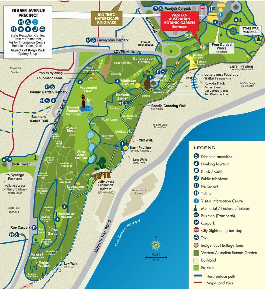 Kings Park Map map kings park perth | Kings Park | Pinterest | Kings park perth  Kings Park Map