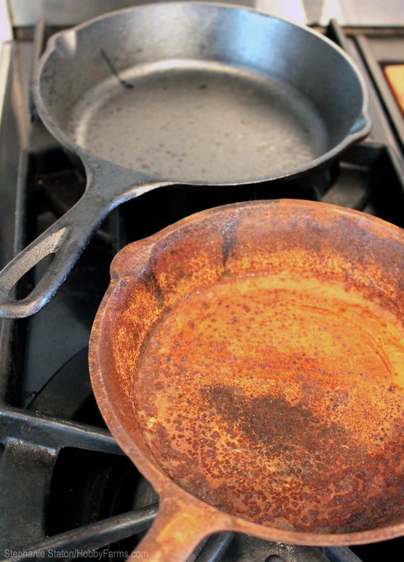 Don t toss out dirty rusted cast iron cookware Restore pieces to