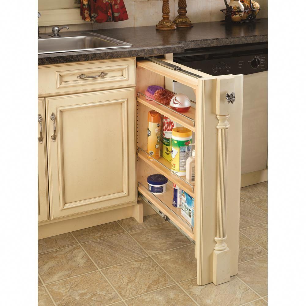 Rev A Shelf 30 In H X 6 In W X 23 In D Pull Out Between Cabinet Base Filler 432 Bf 6c The Home Dep Diy Kitchen Storage Kitchen Organization Diy Rev A Shelf
